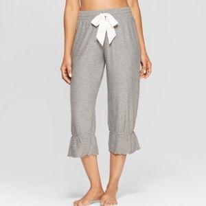 Gilligan O'Malley Gray Cozy Wide Leg Pajama Pants